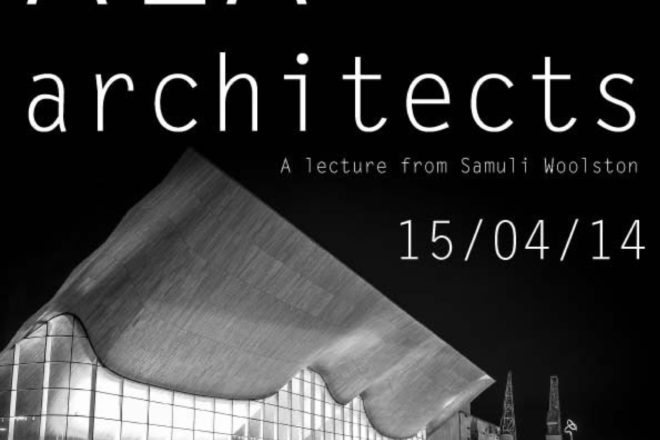ALA Architects lecture advert.