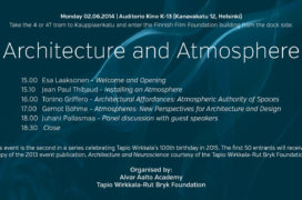 Program of the Architecture and Atmosphere seminar.