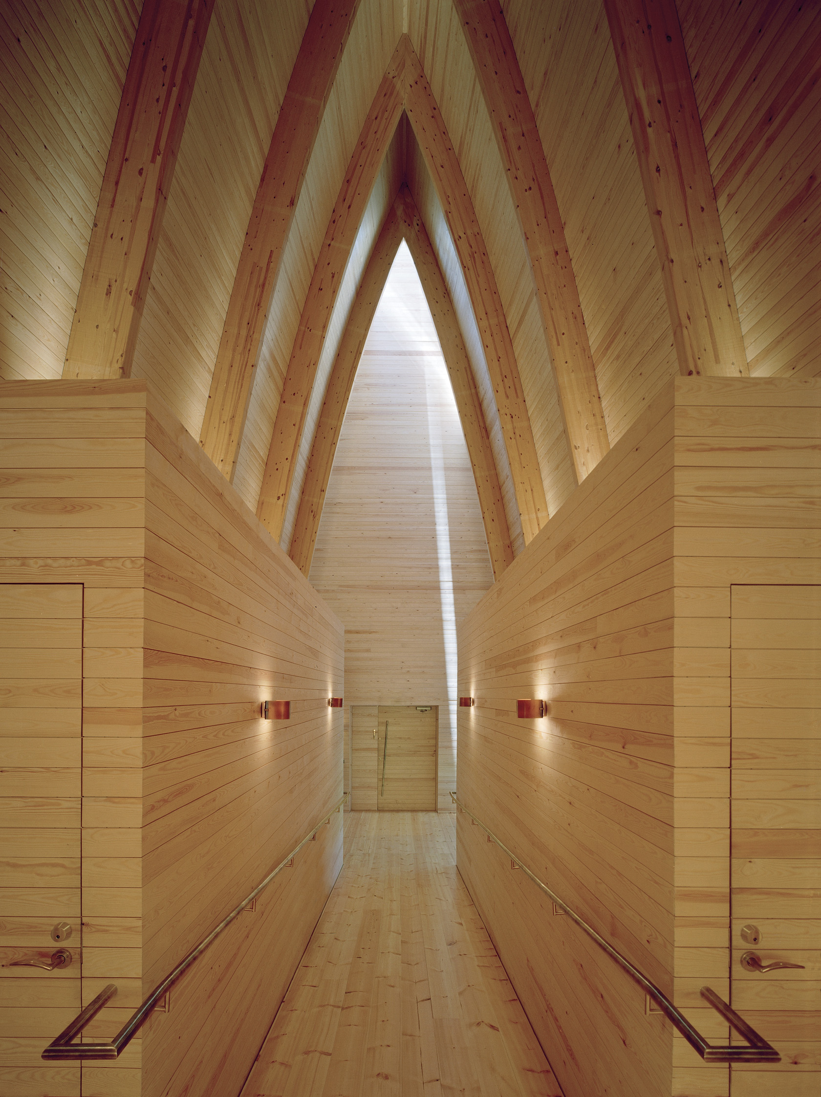 Sanaksenaho Architects: St. Henry's Ecumenical Art Chapel in Turku, Finland (2005). Photo by Jussi Tiainen.