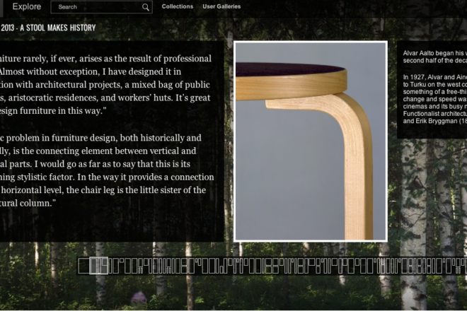 Artek Aalto stool and two quotes about design.