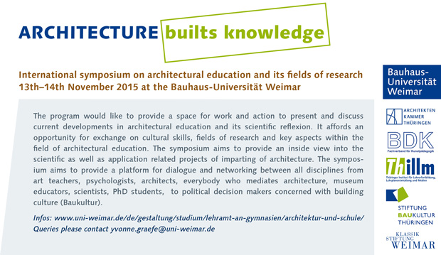 An article that says: Architecture builds knowledge.