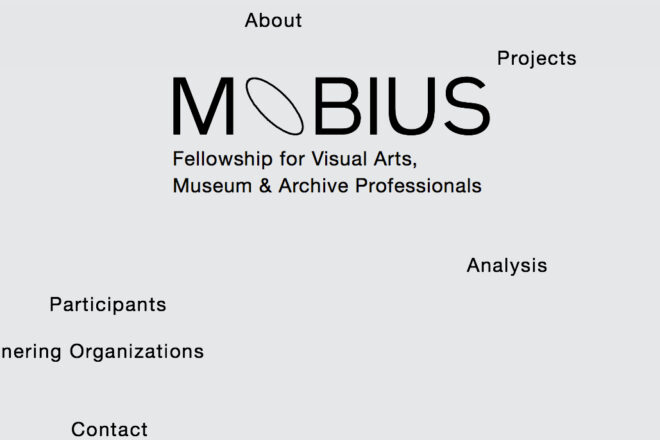 Mobius. Fellowship for Visual Arts, Museum & Archive Professionals