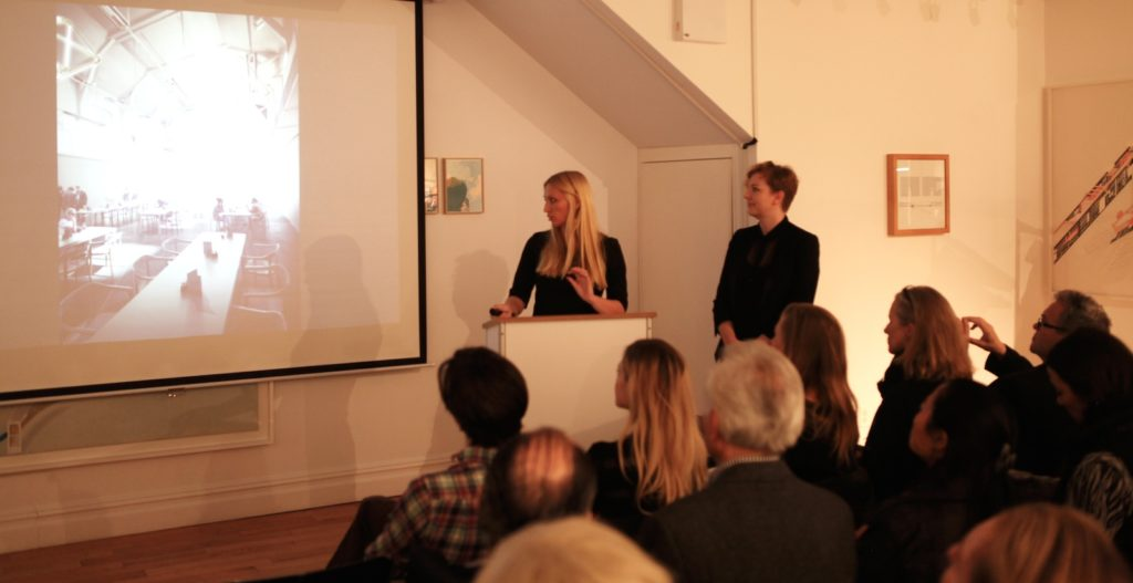 Emmi Keskisarja (left) and Miia-Liina Tommila at the Center for Architecture in New York in November 2014.