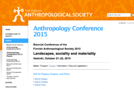 An image from a website that says: Anthropology Conference 2015
