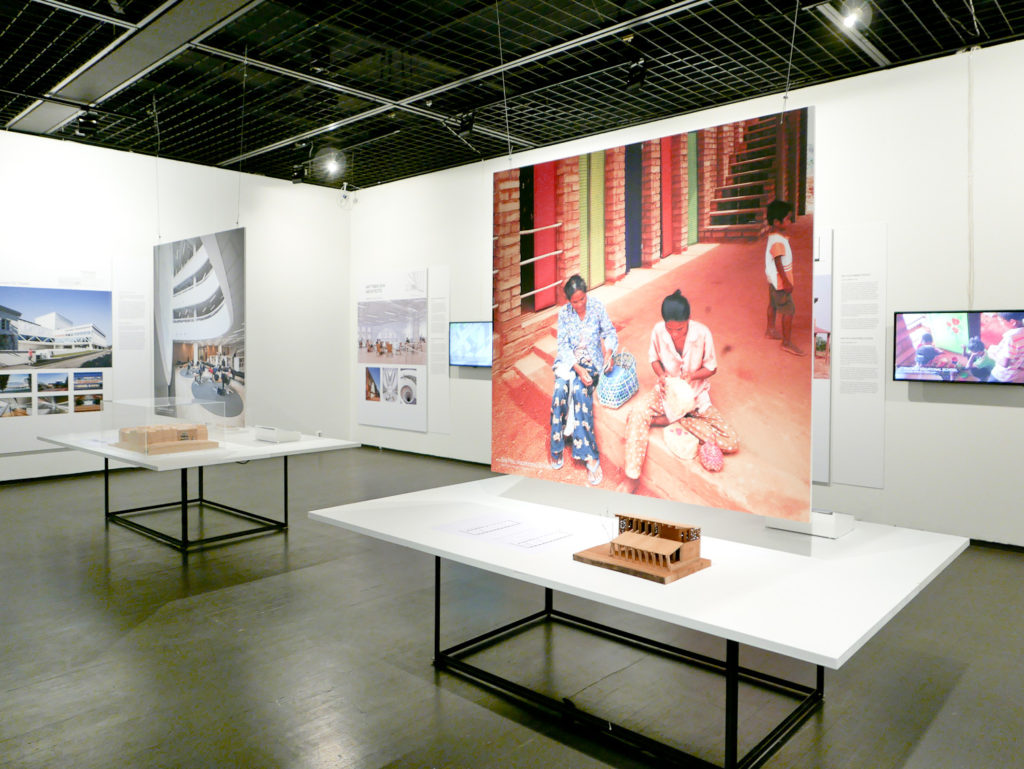 The Suomi Seven exhibition is on display at the Museum of Finnish Architecture in Helsinki during during 24 March – 17 May, 2015. In front, some exhibition material of the Sra Pou vocational school in Cambodia  by Rudanko + Kankkunen Architects.