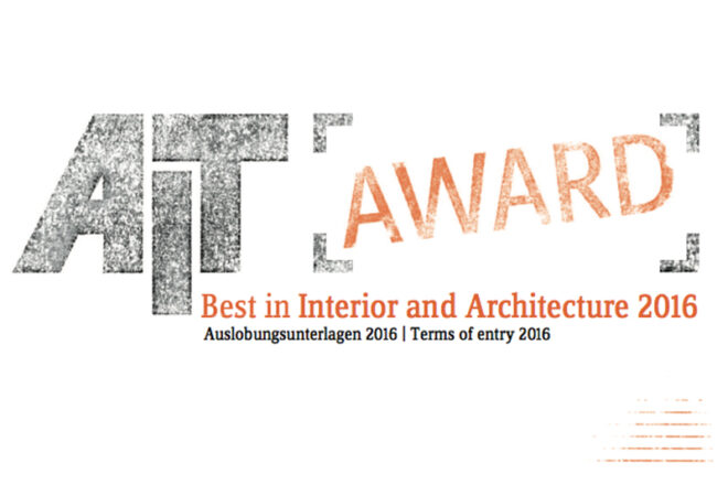 AIT Award. Best in Interior and Architecture 2016