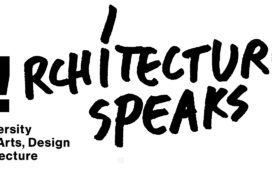 Architecture speaks lecture series poster