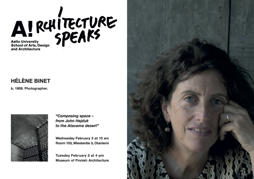 Helene Binet lecture poster
