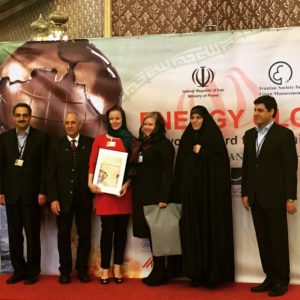 The Energy Globe Award was accepted in Tehran by two team members, Noora Aaltonen and Elina Tenho