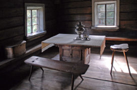 Interior of the Pertinotsa house in Seurasaari outdoor museum, Helsinki