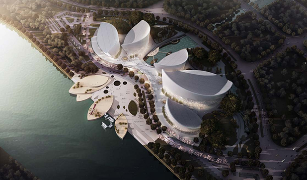 PES-Architects, design for Strait Culture and Art Centre in Fuzhou, China.