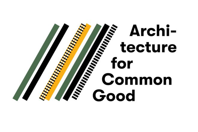 The logo of the seminar with colourful tilted stripes.