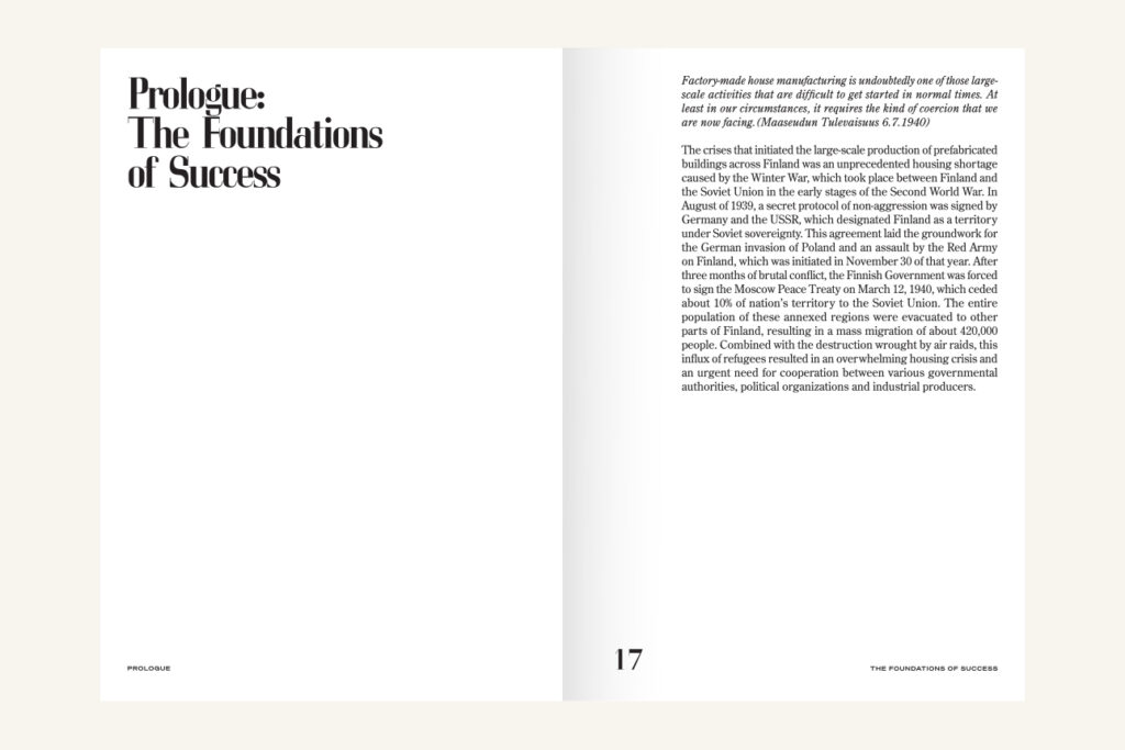 """A spread of a book, on left a headline """"Prologue: The Foundations of Success"""", text on right"""